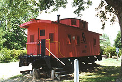 PM Caboose #A800 in Hilliard, Ohio