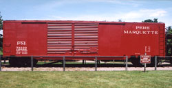 PM box car #72222 on display at Grand Haven, MI