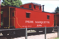 PM caboose #A986 on display at Grand Haven, MI - Click here for a larger picture,